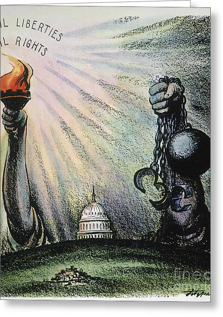 Inauguration Greeting Cards - Cartoon: Civil Rights 1953 Greeting Card by Granger