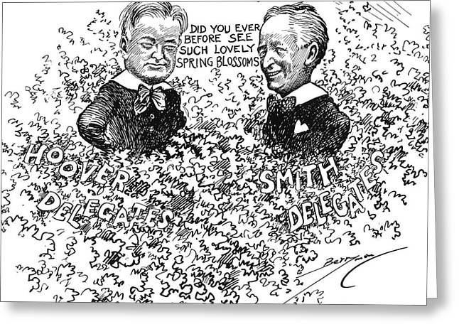 Presidential Elections Greeting Cards - Cartoon: Election Of 1928 Greeting Card by Granger