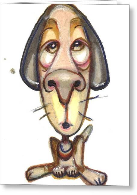 Headshot Drawings Greeting Cards - Cartoon No 161 Greeting Card by Edward Ruth