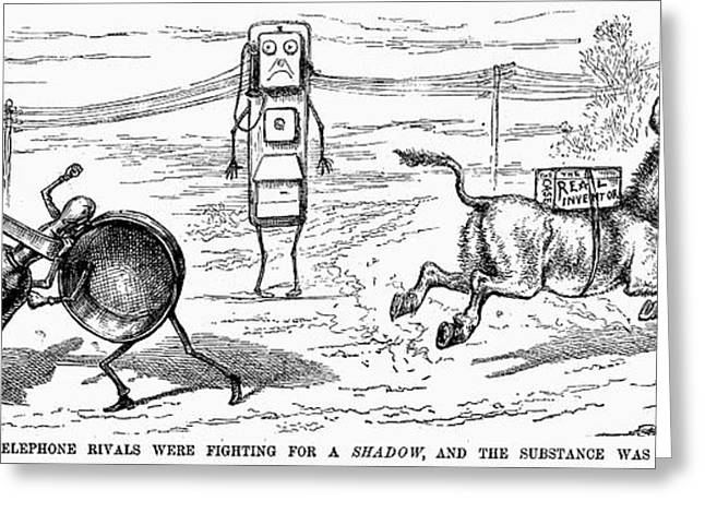 CARTOON: TELEPHONE, 1886 Greeting Card by Granger