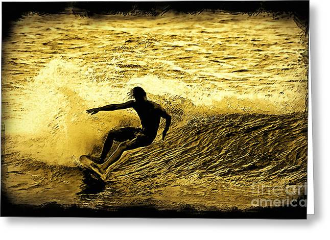 Action Sports Digital Greeting Cards - Carve Greeting Card by Paul Topp
