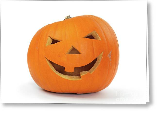 Jack O Lanterns Jackolantern Greeting Cards - Carved Pumpkin Greeting Card by Oleksiy Maksymenko