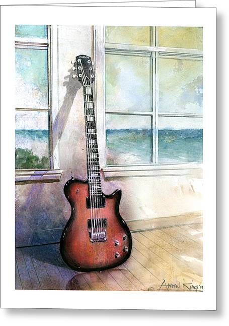 Electric Guitar Greeting Cards - Carvin Electric Guitar Greeting Card by Andrew King