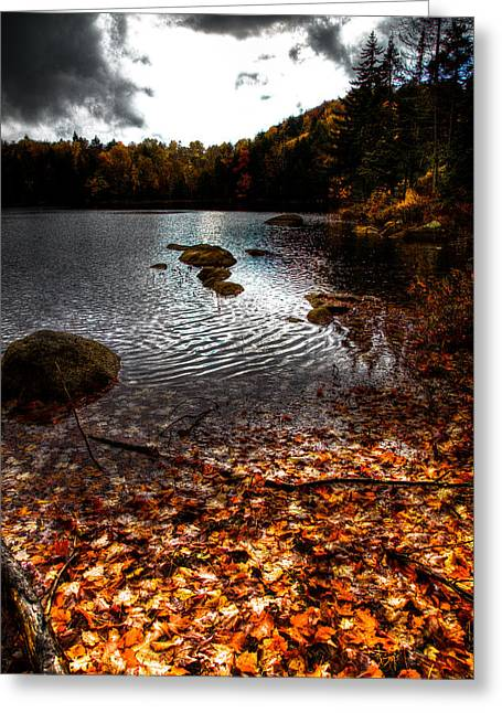 Aderondacks Greeting Cards - Cary Lake After the Storm Greeting Card by David Patterson