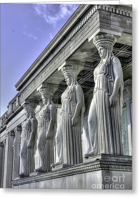Caryatids Greeting Cards - Caryatids of Science and Industry Greeting Card by David Bearden