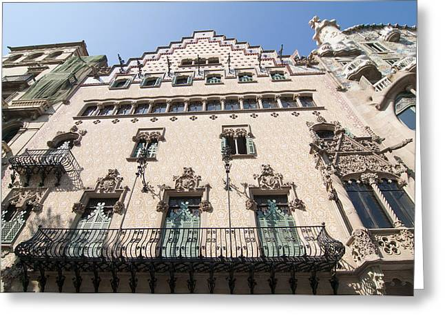 Catalunya Greeting Cards - Casa Amatller building Barcelona Greeting Card by Matthias Hauser