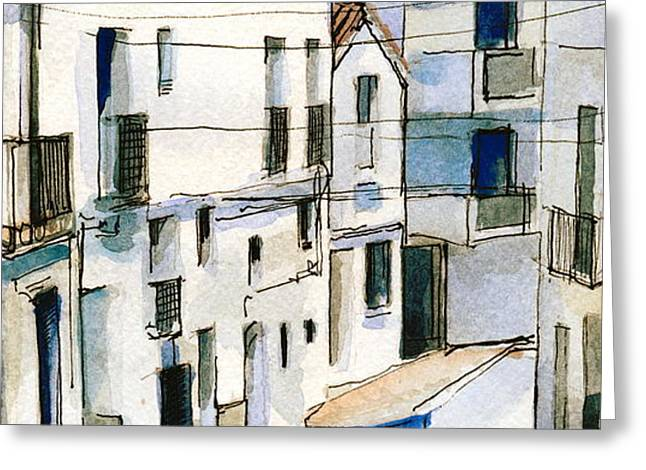 Casares Street Greeting Card by Stephanie Aarons