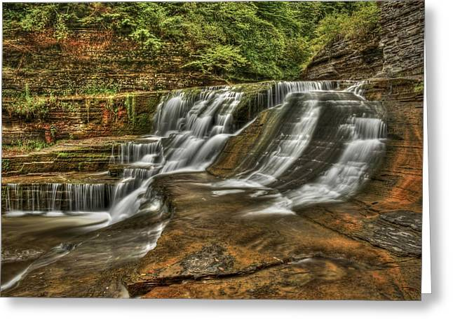 Ithaca Greeting Cards - Cascades Greeting Card by Evelina Kremsdorf