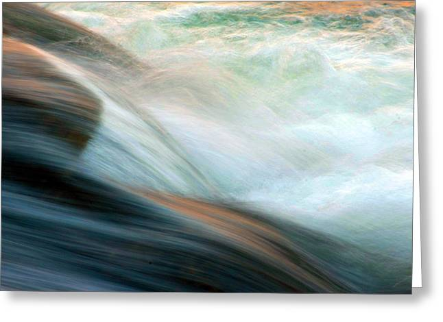 Babbling Greeting Cards - Cascades Flow Greeting Card by Mike Flynn