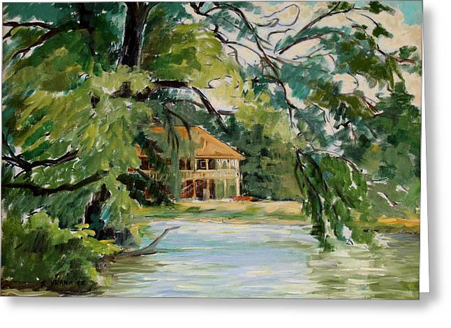 Best Sellers -  - Ithaca Greeting Cards - Cascadilla Boathouse Ithaca New York Greeting Card by Ethel Vrana