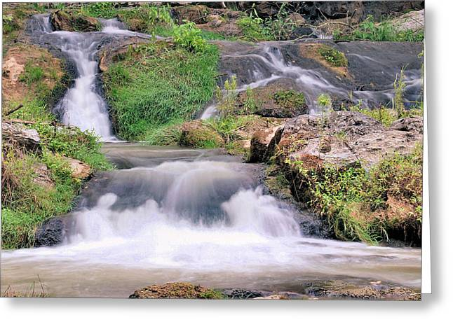 Roiling Greeting Cards - Cascading Greeting Card by Kristin Elmquist