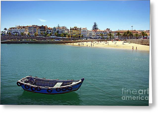 Historic City Pier Greeting Cards - Cascais Greeting Card by Carlos Caetano