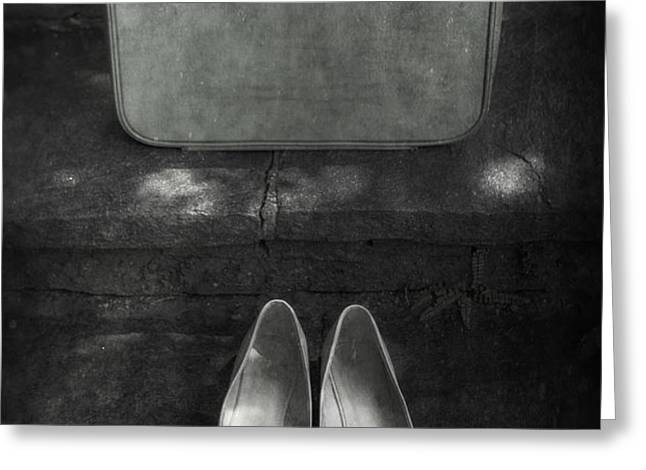 case and shoes Greeting Card by Joana Kruse