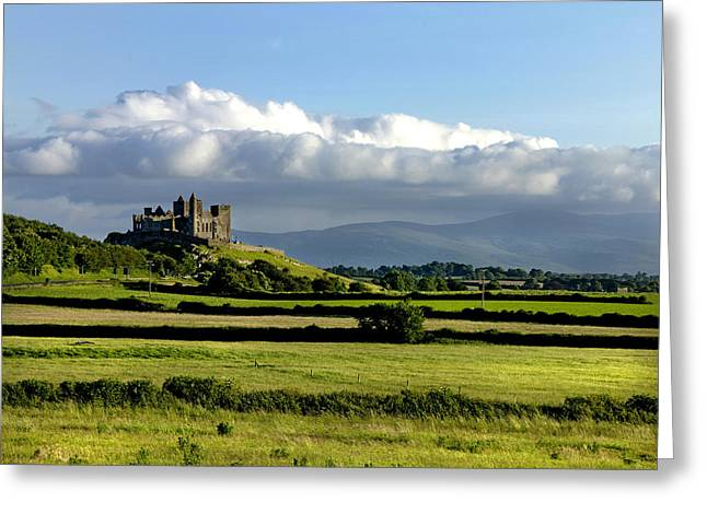 Medieval Architecture Greeting Cards - Cashel Castle On The Rock Of Cashel Greeting Card by Chris Hill
