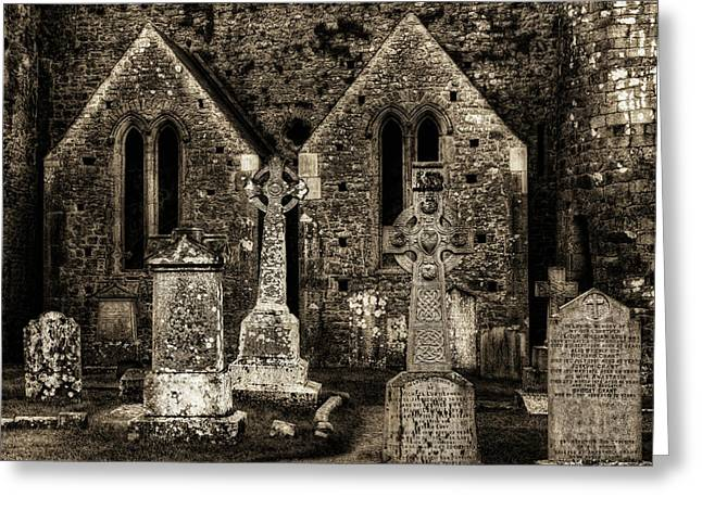 Richard Hinton Greeting Cards - Cashel Cemetery Greeting Card by Richard Hinton