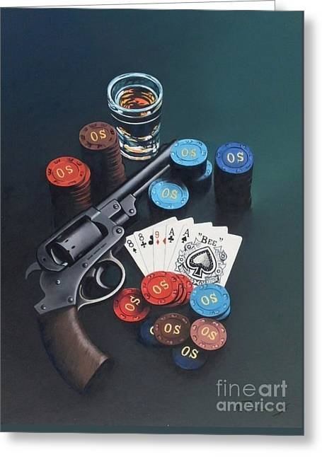 Casino Greeting Card by Alexander  Titorenkov