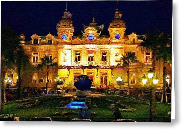 Monaco Greeting Cards - Casino Monte Carlo Greeting Card by Jeff Kolker