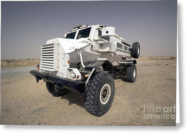 Iraq Greeting Cards - Casper Armored Vehicle Sits Greeting Card by Terry Moore