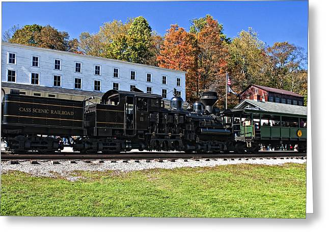 Old West Photography Greeting Cards - Cass Railway WV Greeting Card by Steve Harrington