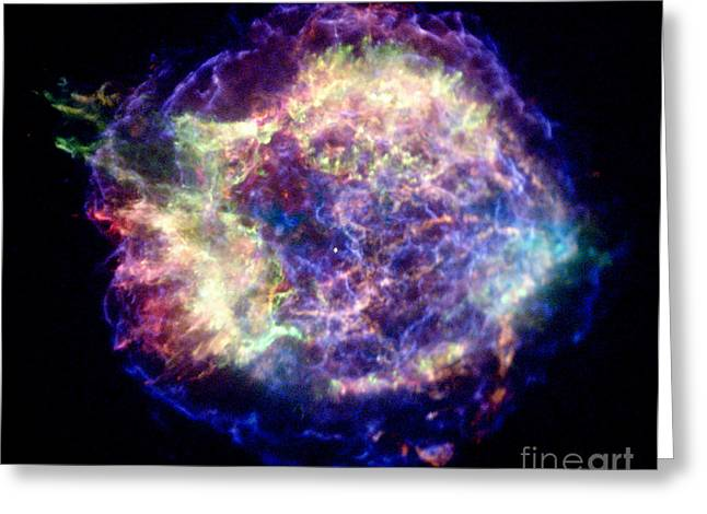 Cassiopeia Constellation Greeting Cards - Cassiopeia A, Cas A, Supernova Remnant Greeting Card by Nasa