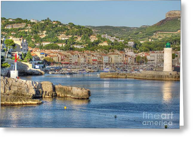 Cassis - Harbour And Lighthouse 2 Greeting Card by Rod Jones
