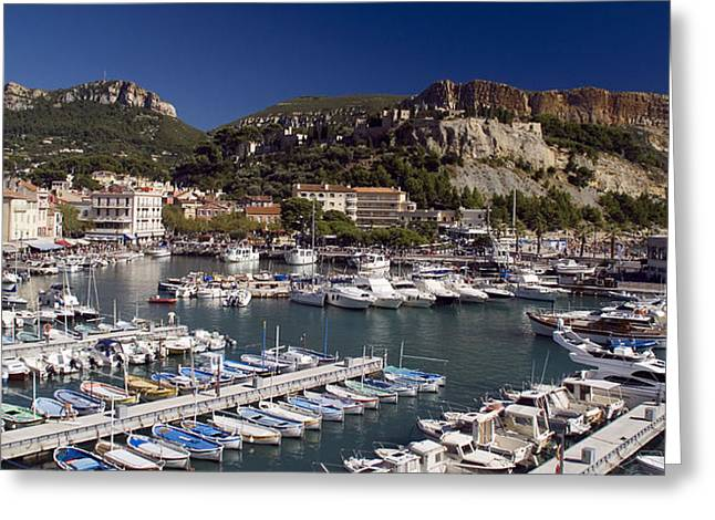 Chateau Greeting Cards - Cassis Harbour Greeting Card by Rod Jones