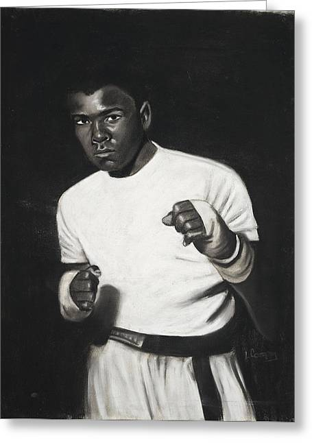 Mohammed Ali Greeting Cards - Cassius Clay Greeting Card by L Cooper