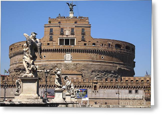 Castel Greeting Cards - Castel Saint Angelo on the River Tiber. Rome Greeting Card by Bernard Jaubert