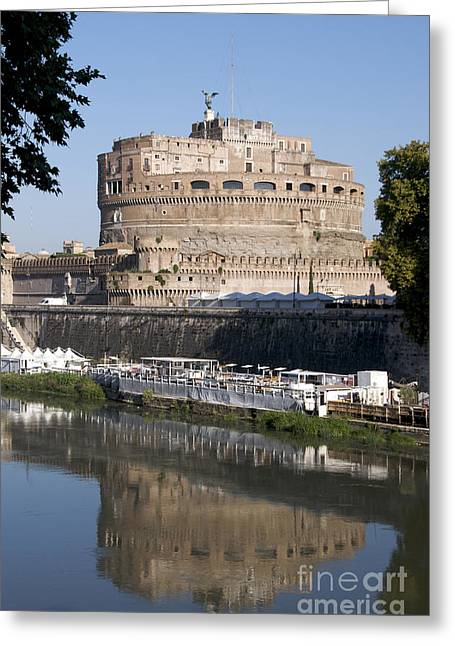 Castel Greeting Cards - Castel SantAngelo Castle. Rome Greeting Card by Bernard Jaubert