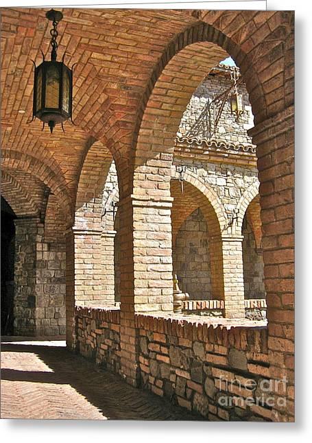 Castello Amorosa Greeting Card by Italian Art