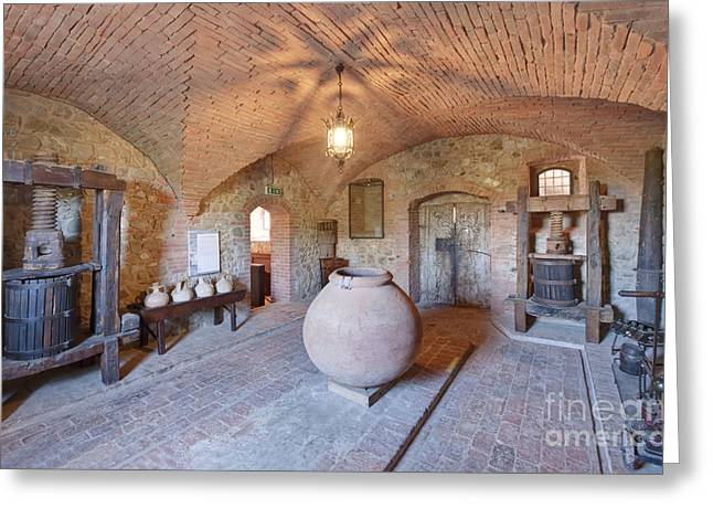 Italian Wine Greeting Cards - Castello Banfi Museum Greeting Card by Rob Tilley