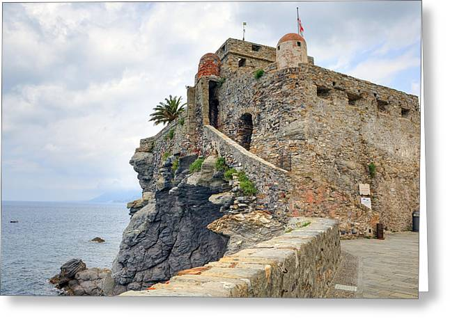 Castello della Dragonara in Camogli Greeting Card by Joana Kruse