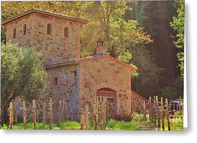 Castillo de Amoroso Farmhouse Napa Valley Greeting Card by George Sylvia