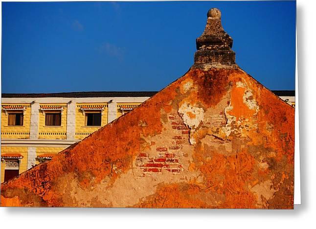Castillo de Oro Greeting Card by Skip Hunt