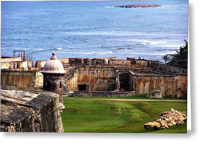 Dutch Lighthouse Greeting Cards - Castillo San Felipe del Morro Greeting Card by Marilyn Holkham