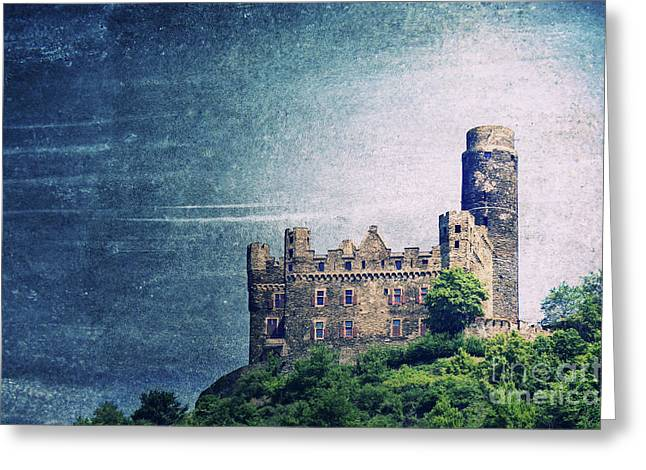 Castle Greeting Cards - Castle Mouse Greeting Card by Angela Doelling AD DESIGN Photo and PhotoArt