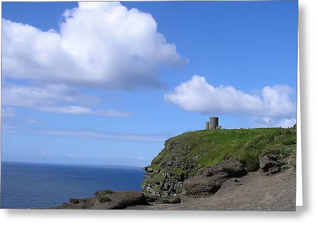 Bluesky Greeting Cards - Castle on the Cliffs of Moher Greeting Card by Bill Cannon