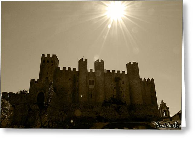 Castle Pyrography Greeting Cards - Castle Greeting Card by Ricardo Sousa
