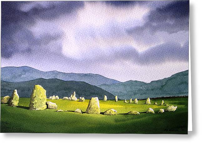 Stone Circle Greeting Cards - Castle Rigg Stone Circle Greeting Card by Paul Dene Marlor