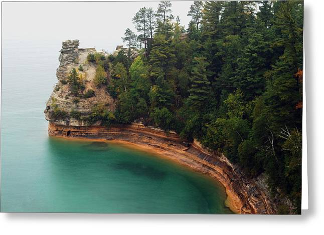 Peychich Greeting Cards - Castle Rock Greeting Card by Michael Peychich