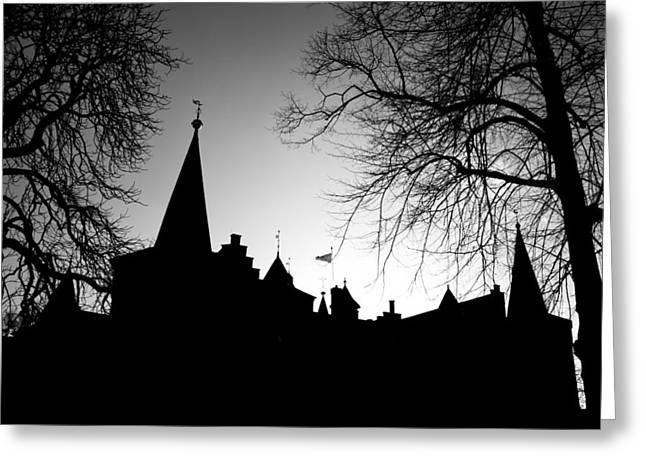 British Royalty Greeting Cards - Castle Silhouette Greeting Card by Semmick Photo
