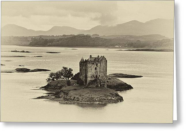Campbell Clan Greeting Cards - Castle Stalker Greeting Card by Chris Thaxter