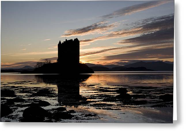 Scotland Landscapes Greeting Cards - Castle Stalker Greeting Card by Pat Speirs