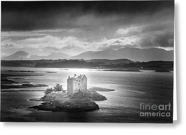 Gloom Greeting Cards - Castle Stalker Greeting Card by Simon Marsden