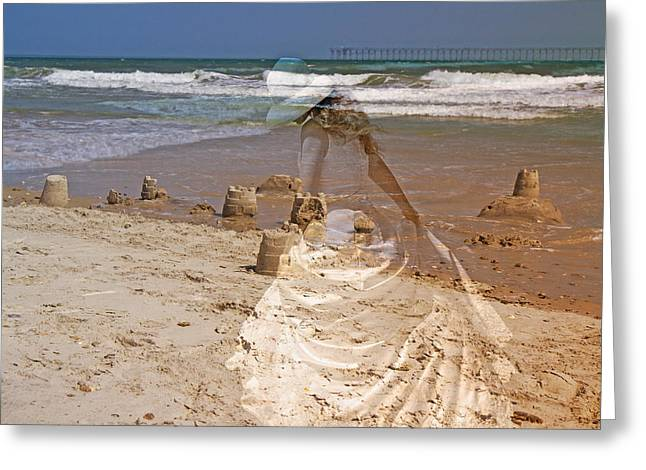 Sand Castles Greeting Cards - Castles and Dreams Greeting Card by Betsy A  Cutler
