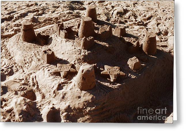 Castles Made Of Sand Greeting Card by Xueling Zou
