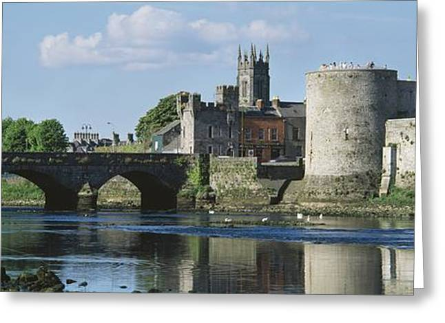 Reflections Of Sky In Water Greeting Cards - Castles, St Johns Castle, Co Limerick Greeting Card by The Irish Image Collection