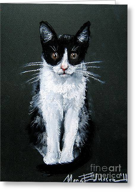 Animal Pastels Greeting Cards - Cat I Greeting Card by Mona Edulesco