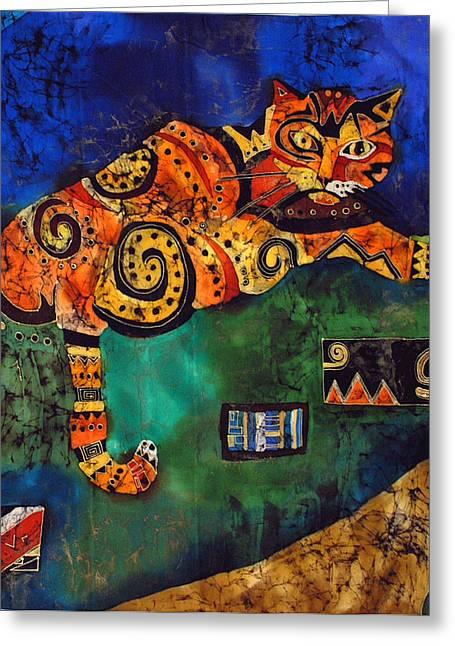 Cat Greeting Card by Sandra Kern