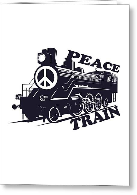 On Demand Greeting Cards - Cat Stevens - Peace Train is coming Greeting Card by Lee Brown